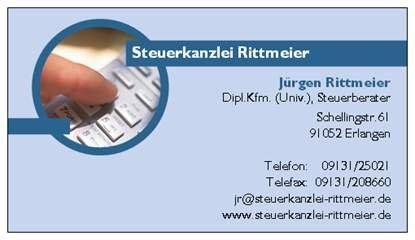 StB Rittmeier - Visitenkarte